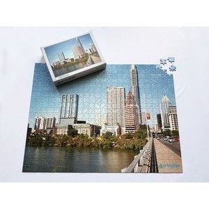 "18"" x 24"" - 70 or 500 Piece Custom Printed Puzzle and Box"